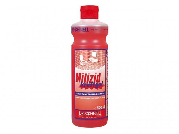 Milizid Kraftgel, Sanitärgrundreiniger sauer, 500 ml Flasche