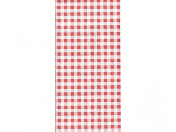 """Bestecktasche Tissue 4-lagig, 40 x 40cm 1/8 Falz, """"ROBIN"""" rot"""