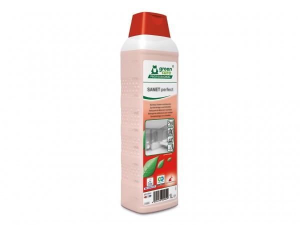 SANET perfect, Sanitärunterhaltsreiniger und Entkalker, 10 x 1 Liter Flasche