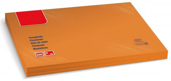 Tischset Zellstoff orange