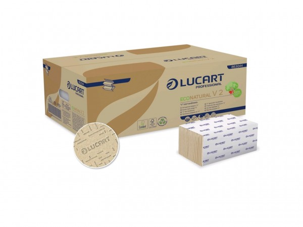 Falthandtücher EcoNatural V 2, 100% recyclierter Getränkekarton, 2-lagig,