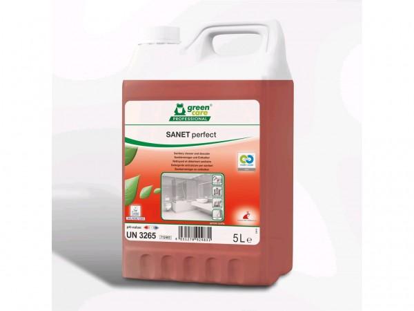 SANET perfect, Sanitärunterhaltsreiniger und Entkalker, 2 x 5 Liter Kanister