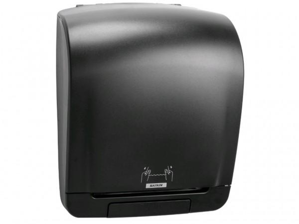 Handtuchspender Katrin Systeme, schwarz 335 x 403 x 216 mm, 1-Roll Spender