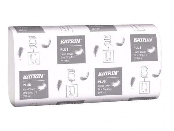 Falthandtücher Katrin Plus OneStop L3, hochweiss, 3-lagig, 23.5 x 34 cm,