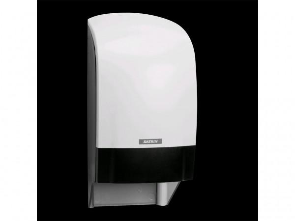 WC-Papier Spender Katrin, Kunststoff weiss, 313 x 154 x 174 mm