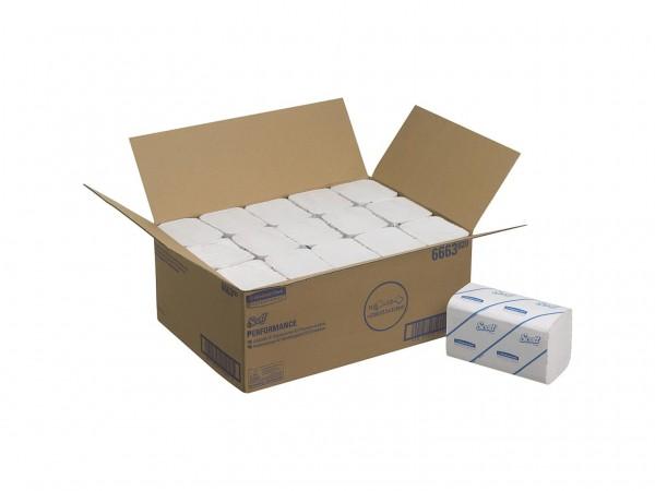 Falthandtücher SCOTT® Performance, 21.5 x 31.5 cm, 1-lagig, Interfold, weiss