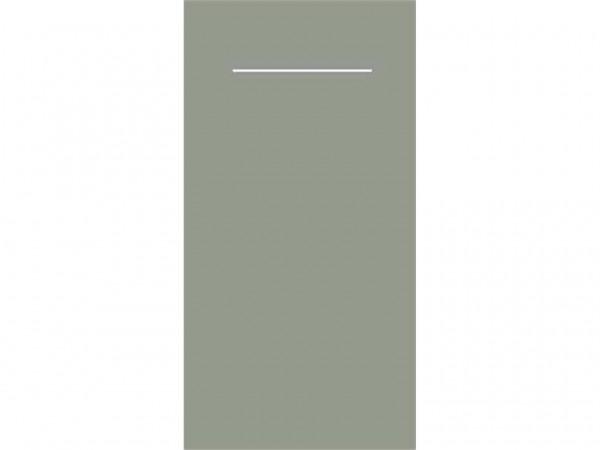 Bestecktasche Airlaid 60 gm2, 40 x 40 cm 1/8 Falz, beton/grau