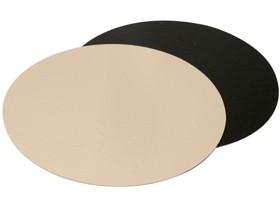 Goldkartonscheiben ø 26 cm rund, Rückseite schwarz