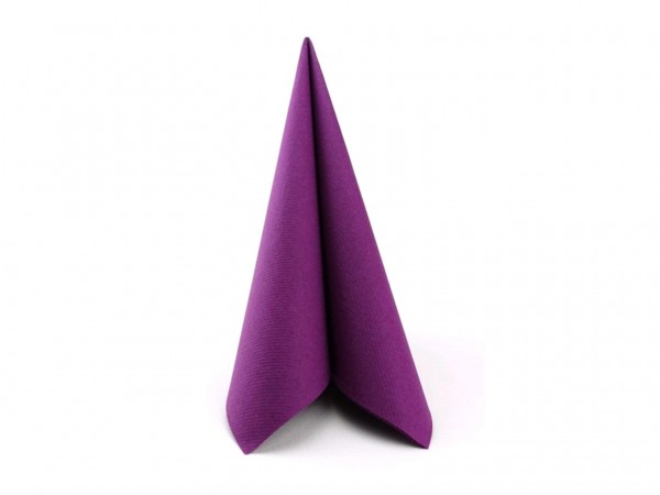Servietten Airlaid, 40 x 40 cm, 1/4 Falz, aubergine