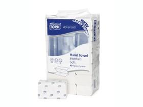 Falthandtücher Tork Advanced Interfold H2, TAD/Tissue hochweiss, 2-lagig
