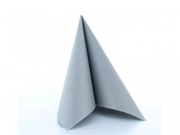 Servietten Airlaid 60 gm2, 40 x 40 cm, silber