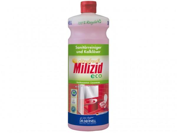 Milizid Citrofresh ECO, ökologischer Sanitärreiniger und Kalklöser, 1 Liter Flasche