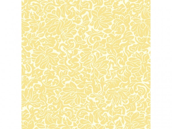 Servietten Spanlin, 40 x 40 cm 1/4 Falz, creme/gelb