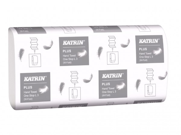 Falthandtücher Katrin Plus OneStop L3, hochweiss, 3-lagig