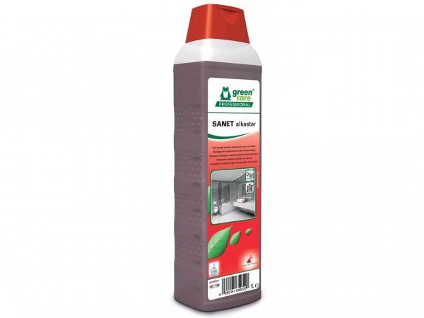 SANET alkastar, materialschonender Sanitärreiniger, , 1 Liter Flasche