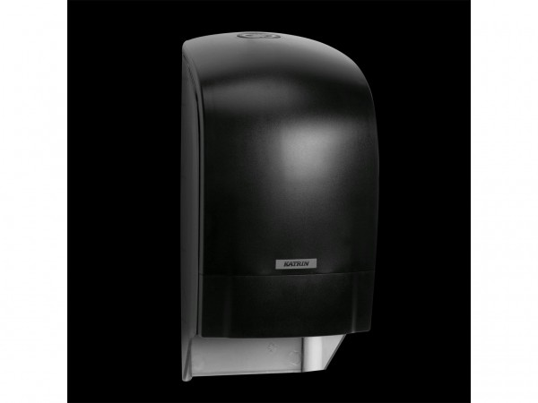 WC-Papier Spender Katrin, Kunststoff schwarz, 313 x 154 x 174 mm,