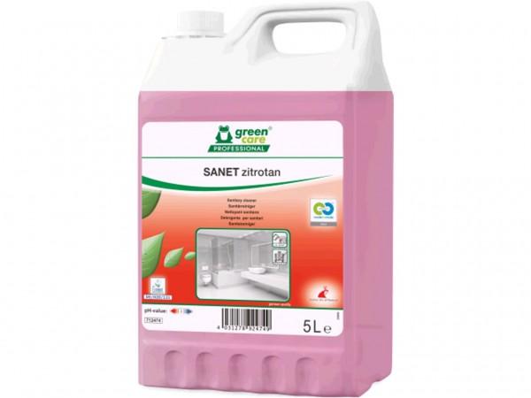 SANET zitrotan, saurer Sanitärunterhaltsreiniger, 5 Liter Kanister