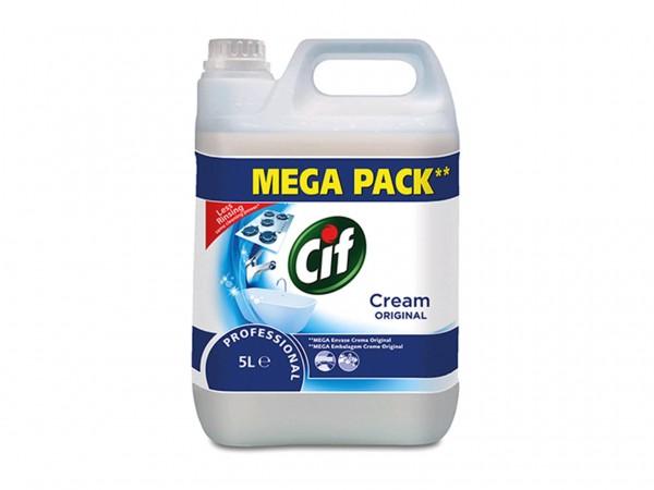 Cif Professional Crème, Oberflächenreiniger für hartnäckige Verschmutzungen, 2 x 5 Liter Kanister