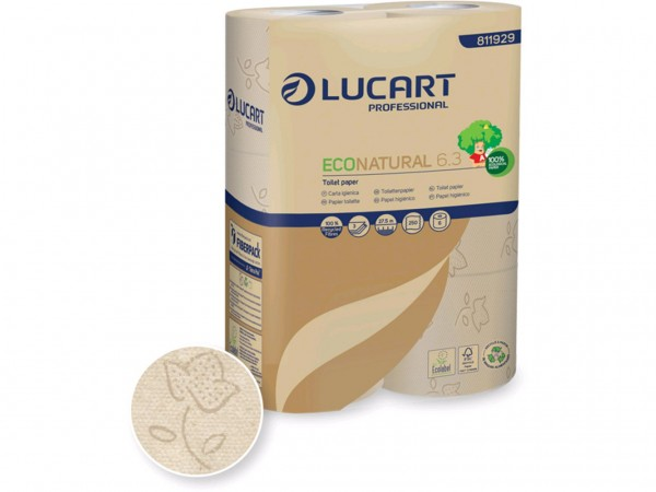 WC-Papier ECO Natural, 3-lagig, 250 Blatt