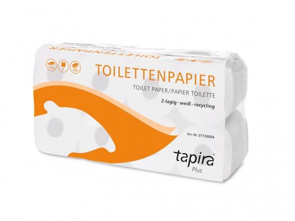 WC-Papier TAPIRA Plus, 100% Recycling 2-lagig, weiss, 250 Blatt (9.5 x 11 cm)