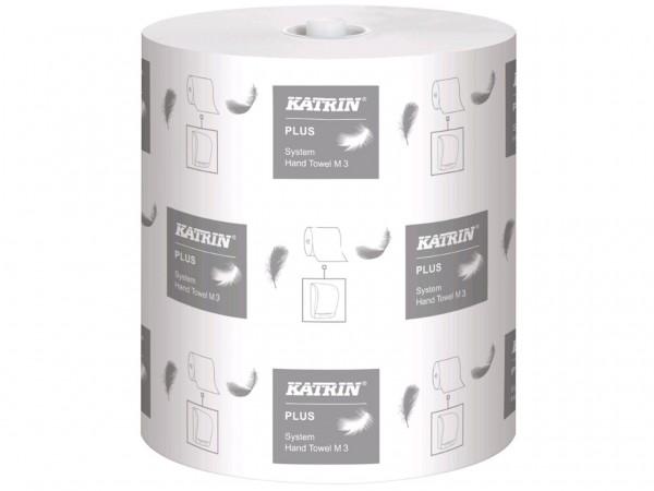 Handtuchrollen Katrin Plus System M3 Tissue weiss, 3-lagig, 21cm x 100 lfm,