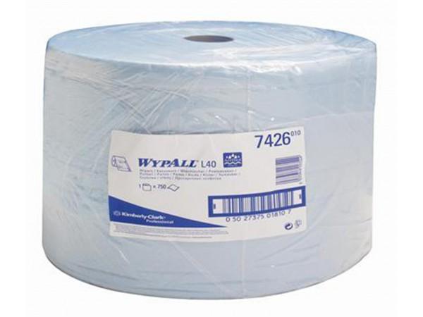 Putztuchrollen Wypall L40 blau 3-lagig 33 x 38 cm, perforiert, 750 Tücher