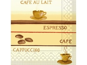 """Servietten 3-lagig 25 x 25 cm 1/4 Falz, """"Cafe au lait"""""""