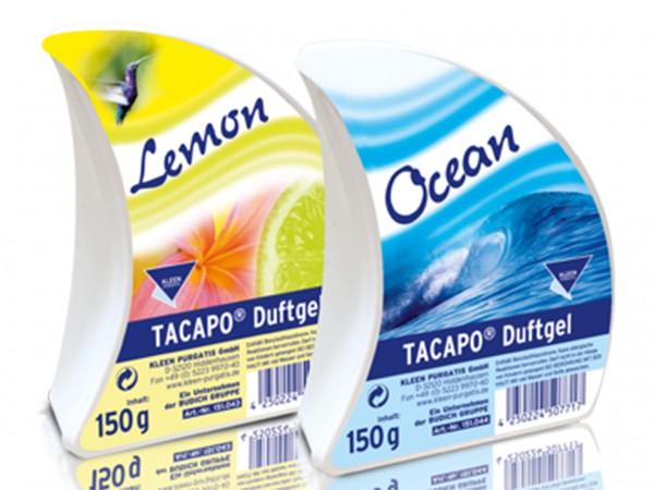 Tacapo Duftgel Lemon angenehme Duftnote, 150g Schale