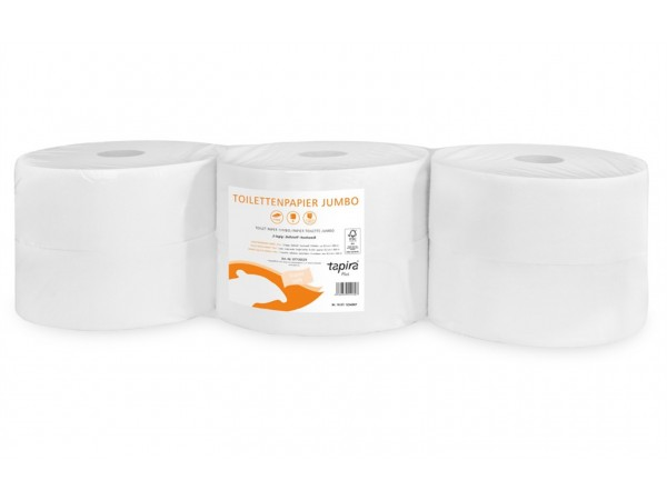 WC-Papier Tapira plus, Jumbo, hochweiss Recycling, 2-lagig, 1440 Blatt