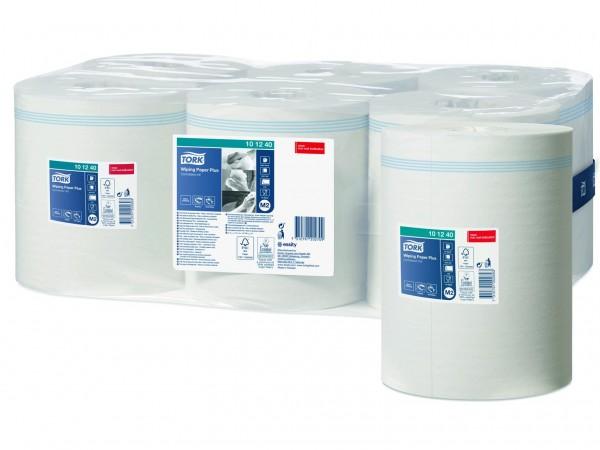 Putztuchrollen Tork Advanced 420, Tissue hochweiss, 2-lagig, 450 Blatt, 21x35 cm,