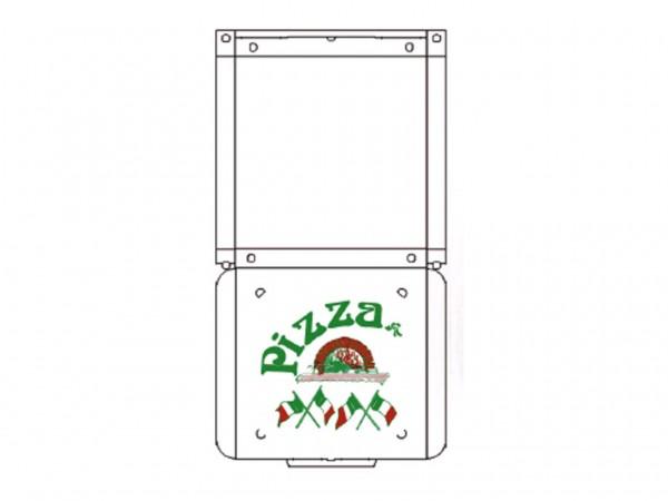 Pizzakarton 60 x 60 x 5 cm Qualität KBSKB/B, Neutraldruck