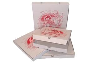 "Pizzakarton 33 x 33 x 4.5 cm ""NEW YORK"" Qualität Kraft 1209, Neutraldruck"