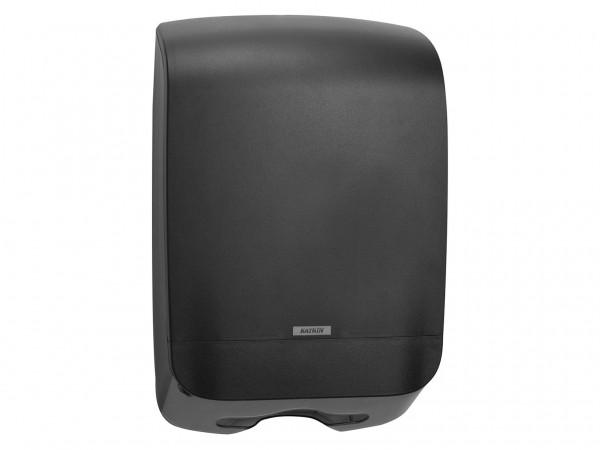 Falthandtuchspender Katrin M 450 x 301 x 146 mm, schwarz