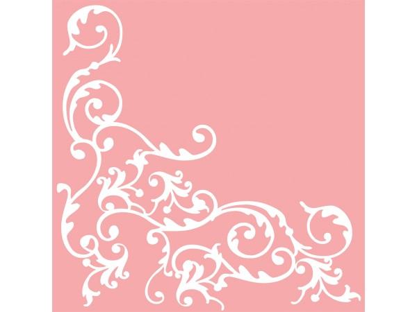"Servietten Airlaid, 40 x 40 cm, 1/4 Falz, ""POMP"" rosa/weiss"