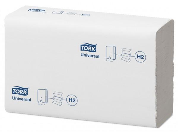 Falthandtücher Tork Advanced Interfold H2, TAD/Tissue, weiss, 1-lagig,
