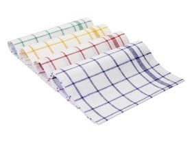 Geschirrtücher Halbleinen, 50 x 70 cm, 50% Baumwolle und 50 % Leinen, blau