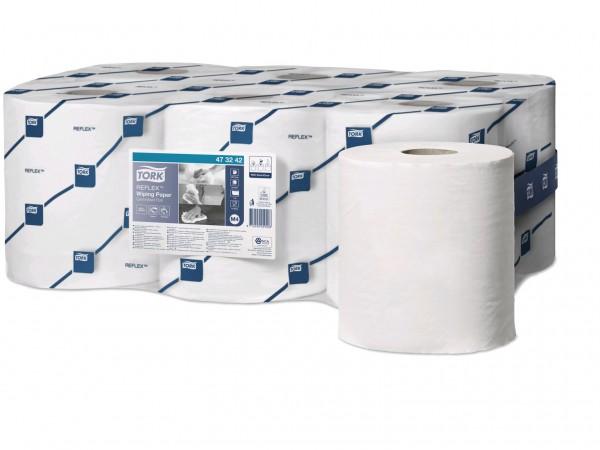 Putztuchrollen Tork Relflex TM, Tissue weiss, 1-lagig, 19.8 cm x 300 lfm,