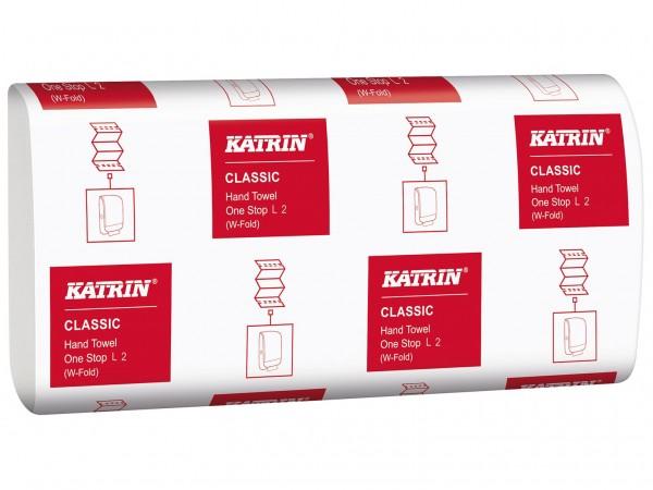 Falthandtücher Katrin Classic One Stop, 2-lagig, weiss, 23.5 x 34 cm, L2,