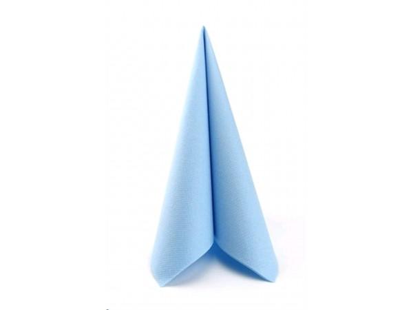 Servietten Airlaid, 40 x 40 cm, 1/4 Falz, hellblau