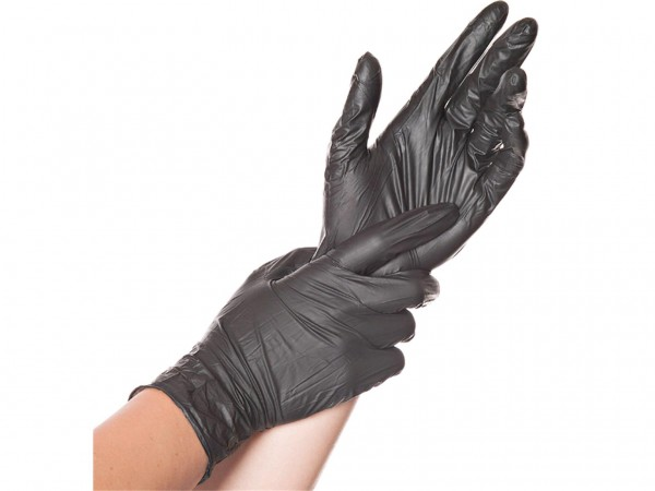 Einweghandschuhe Nitril schwarz, L, 10 x 100 Stück