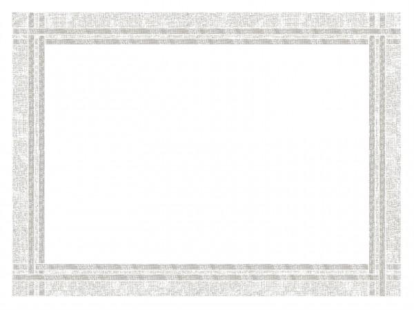 Tischset Vliesstoff, 40 x 30 cm, weiss, mit Webkante in grau