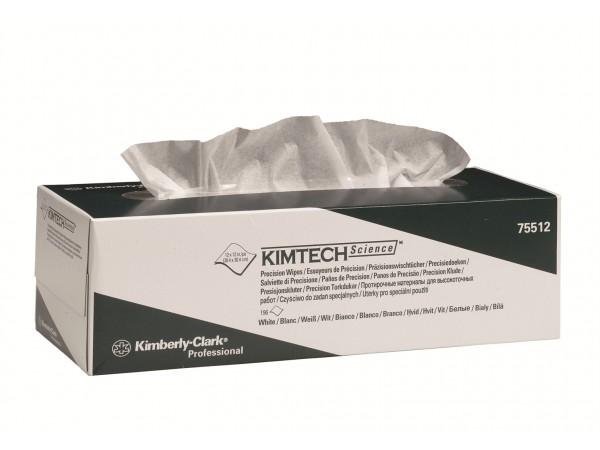Kimtech Science Präzisionstuch 1-lagig 11 x 21 cm, weiss, Würfelbox