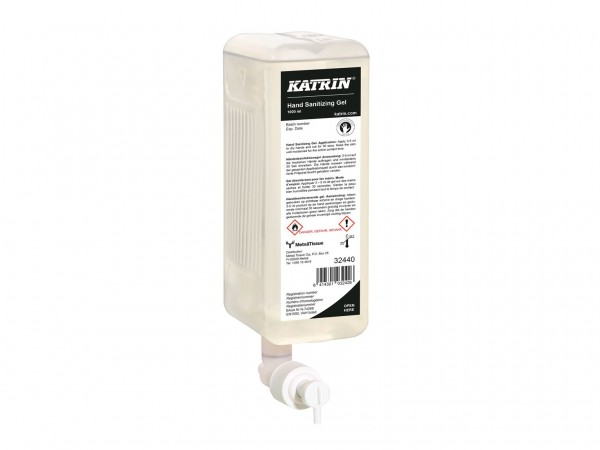 Katrin Handdesinfektionsgel, 1 Liter passend zu Spender 92209 und 90229