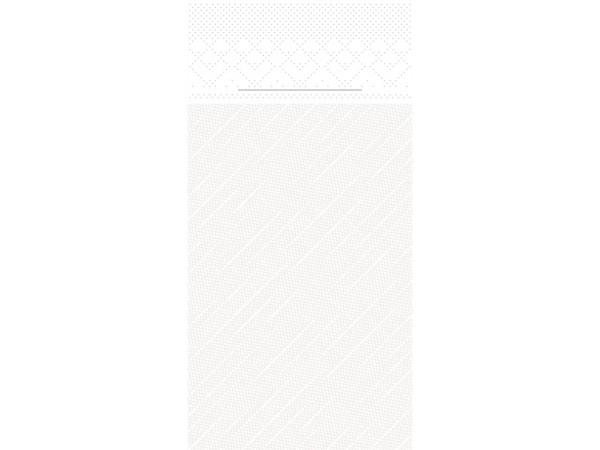Bestecktasche, 4-lagig, 40 x 40 cm, weiss