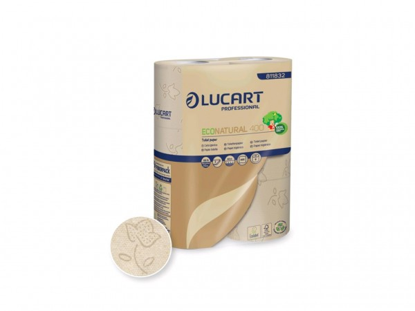 WC-Papier ECO Natural, 100% recyclierter Getränkekarton, 2-lagig, naturbeige,