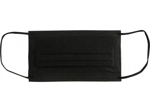 Mundschutzmasken 3-lagig, schwarz, Typ IIR