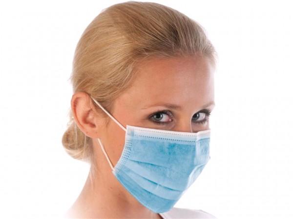 Mundschutzmasken blau Typ IIR 3-lagig, 5x 50 Stück