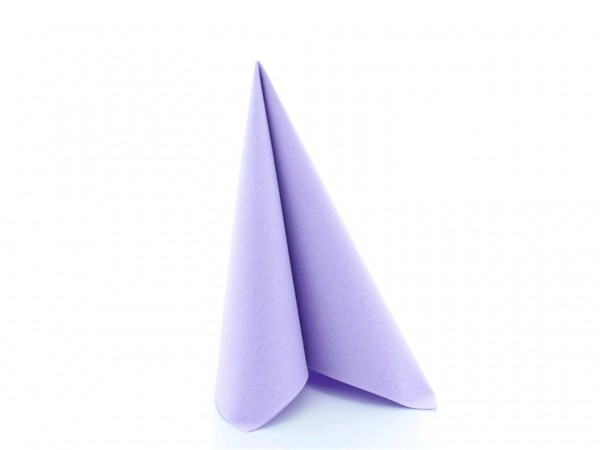 Servietten Airlaid, 40 x 40 cm, 1/4 Falz, lila