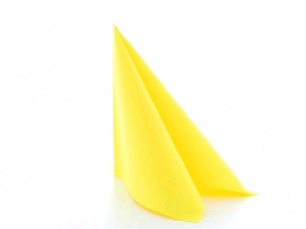 Servietten Airlaid, 40 x 40 cm, 1/4 Falz, gelb