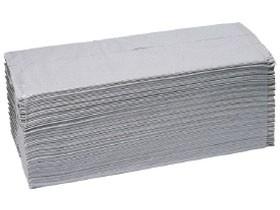 Falthandtücher Krepp C-Falz 1-lagig 24.5 x 33 cm, 100% Recycling, hellgrau